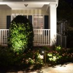 Front porch with lights
