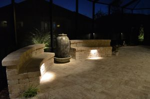 Beautiful patio lighting