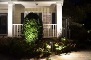 exterior lighting by front porch