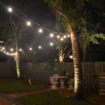 Backyard party exterior lights