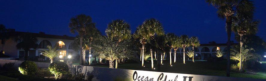 Commercial lighting installed at Ocean Club II in Jacksonville Fl